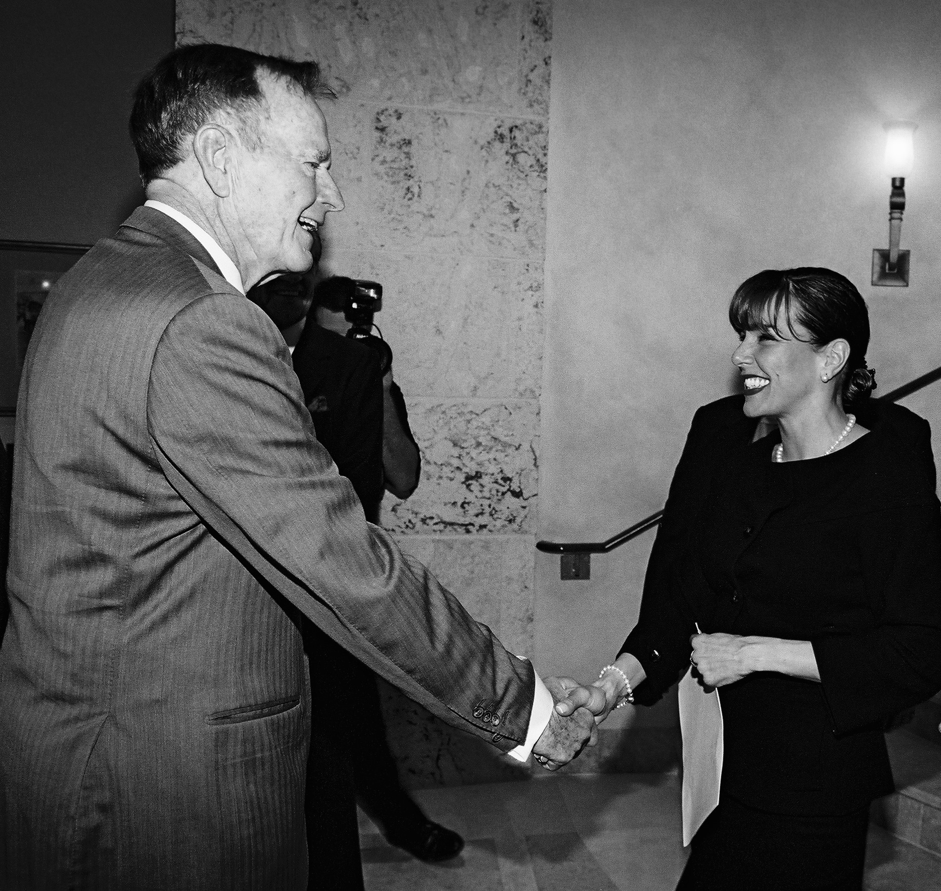 Arely Ruiz with George W. Bush at one of the events she organized.